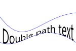 Double path text