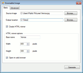 Zoomable Image Windows application